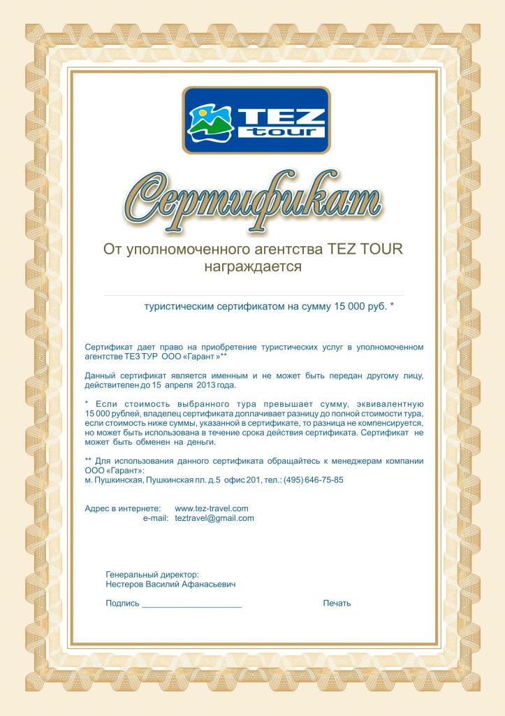 образец договора на приобретение подарочных сертификатов - фото 3